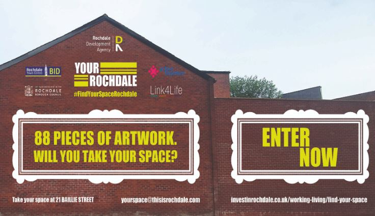 Image: Rochdale residents invited to form part of giant town centre artwork