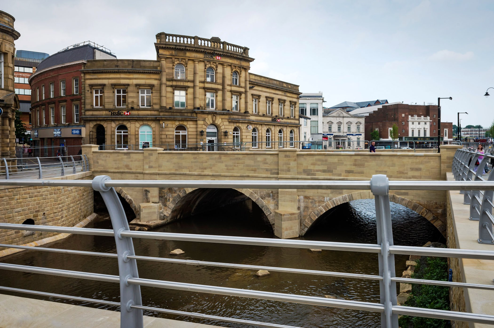 Image: Rochdale's transformation continues with completion of £5m scheme to re-open the River Roch