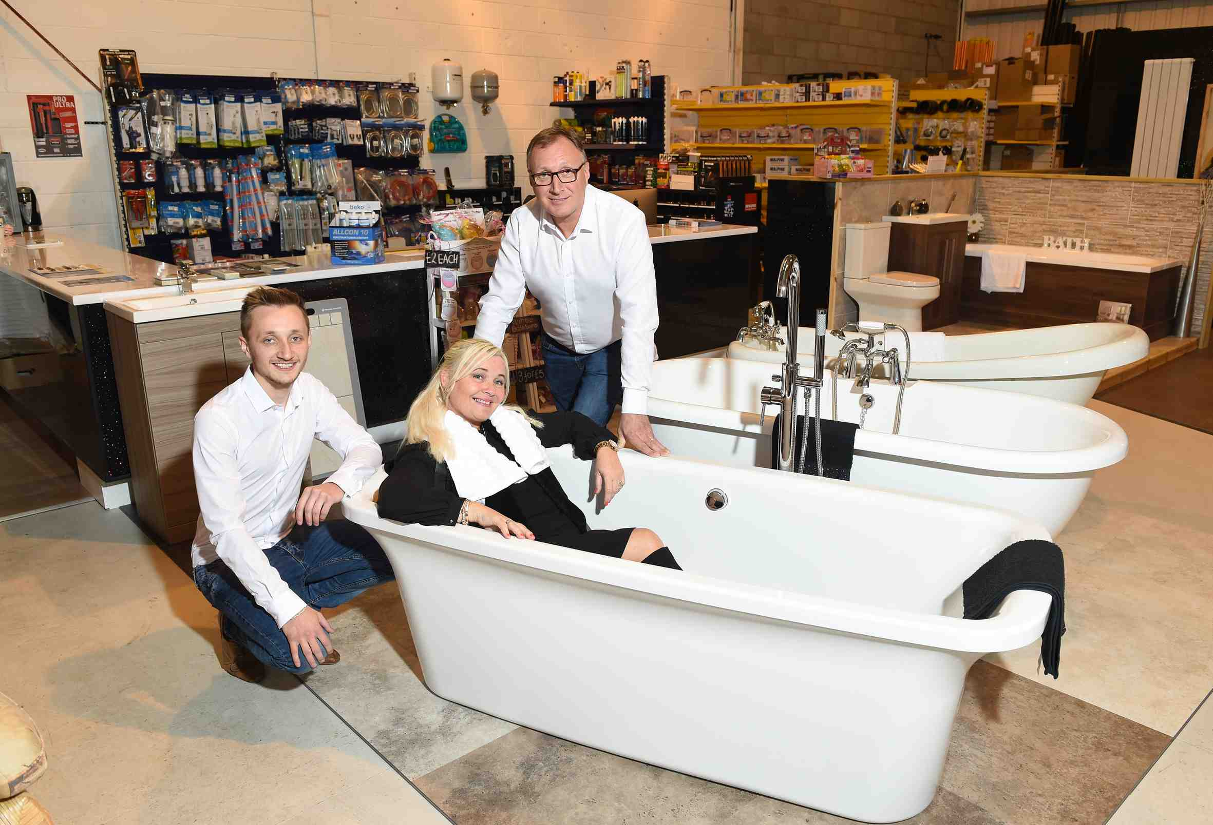 Image: New plumbing and bathroom firm hoping to make a splash