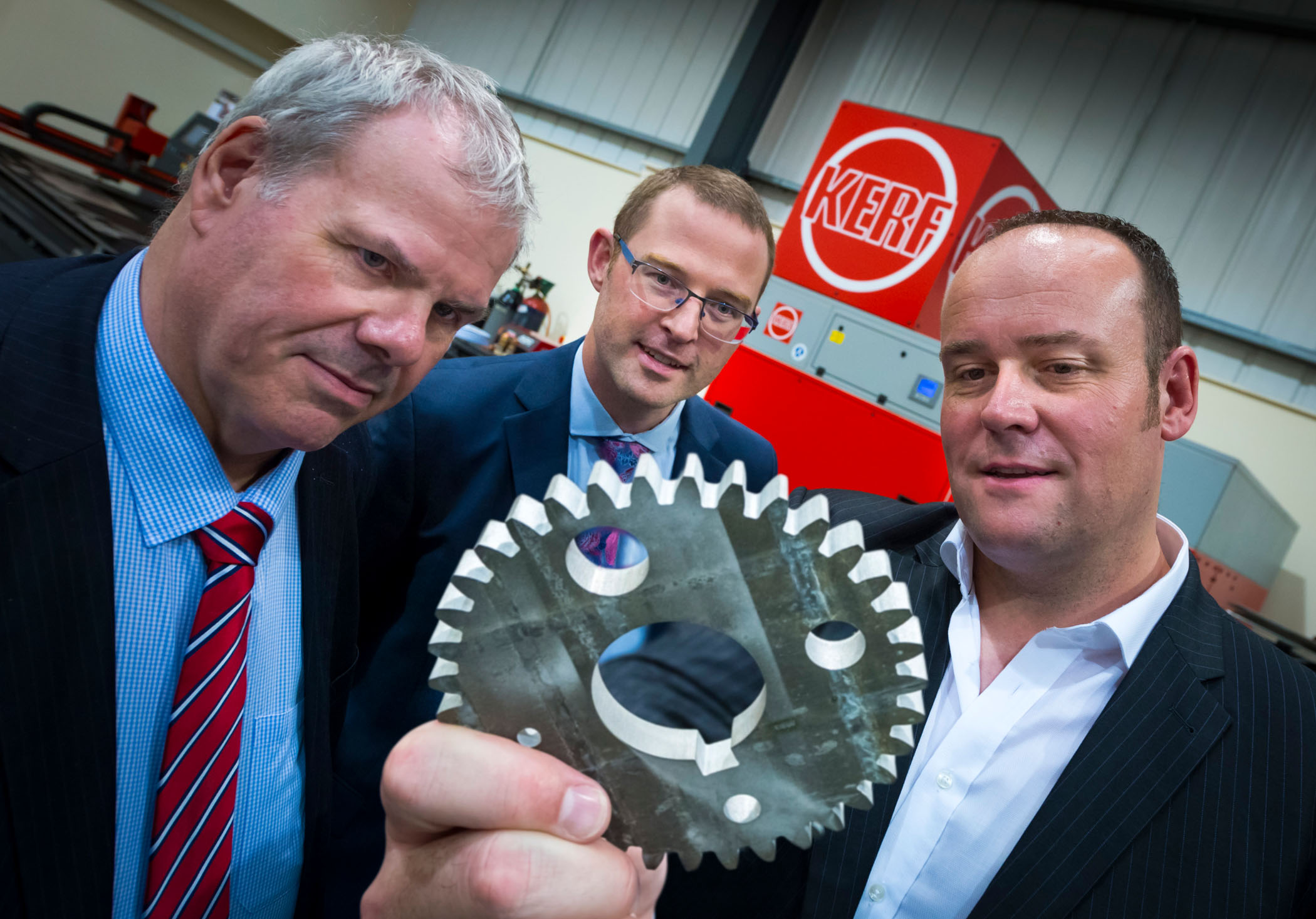 Image: Steely determination: local metal cutting company booming following council grant