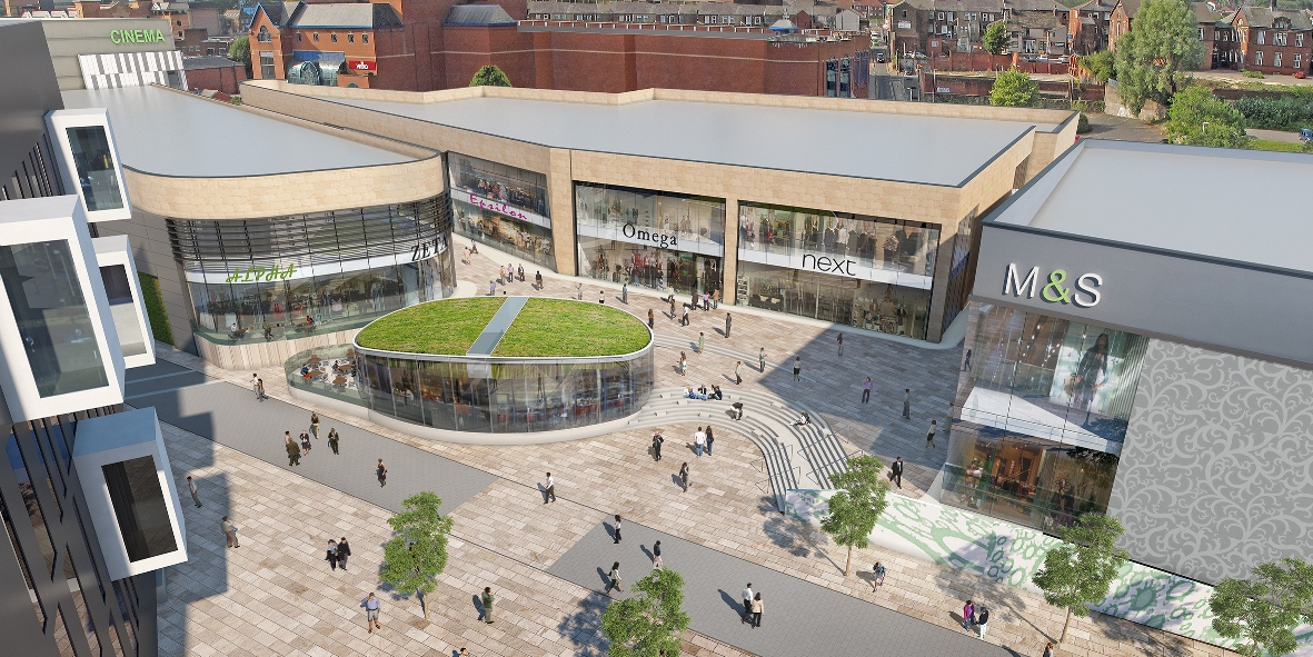 Image: Shopping development one step closer as final demolition gets underway