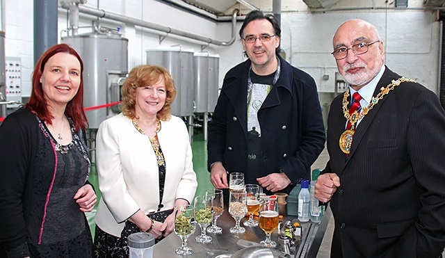 Image: Serious Brewing: Mayor opens new brewing company