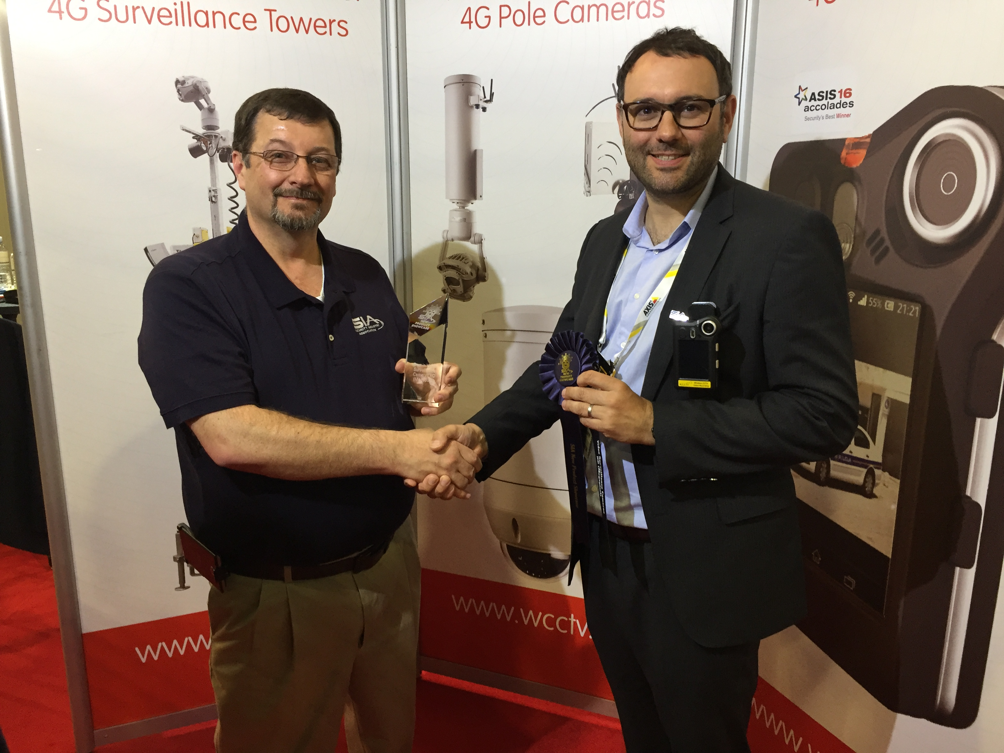 Image: WCCTV's Body Worn Camera recognised with SIA New Product Showcase Award at ISC West 2017