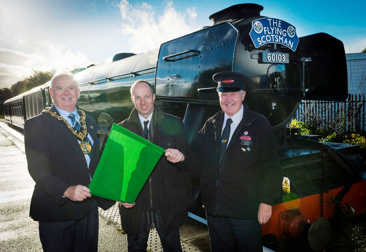 Image: On the right track: company behind restored Flying Scotsman rolls into Rochdale